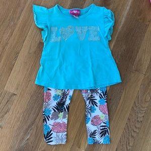 Girls Pink Matching Sets - Girls outfit